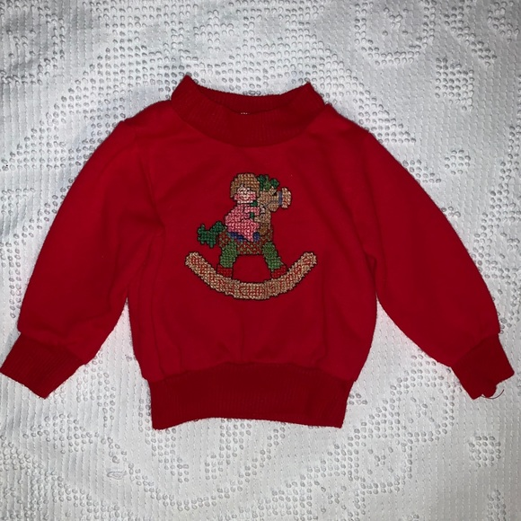 Vintage Other - Vintage Baby Ugly Christmas Sweater